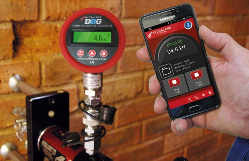 Hydrajaws digital fixing tester bluetooth 3